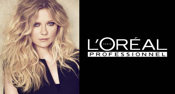 Kirsten dunst the new face of l oreal professionnel hollywood